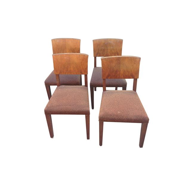 Set di 4 sedie anni 50 la lucerna for Arredamento sedie